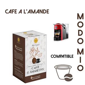 48 CAPSULES DE CAFÉ A L'AMANDE COMPATIBLES LAVAZZA MODO MIO