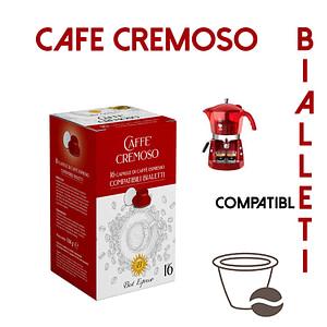 48 CAPSULES DE CAFÉ CREMOSO COMPATIBLES BIALETTI