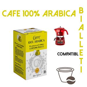 48 CAPSULES DE CAFÉ 100% ARABICA COMPATIBLES BIALETTI