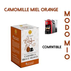 48 CAPSULES DE CAMOMILLE MIEL ORANGE COMPATIBLES LAVAZZA MODO MIO