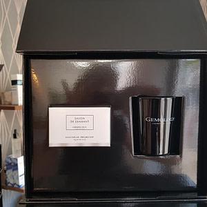 Coffret Bougie parfumée et savon Diamant Gemology
