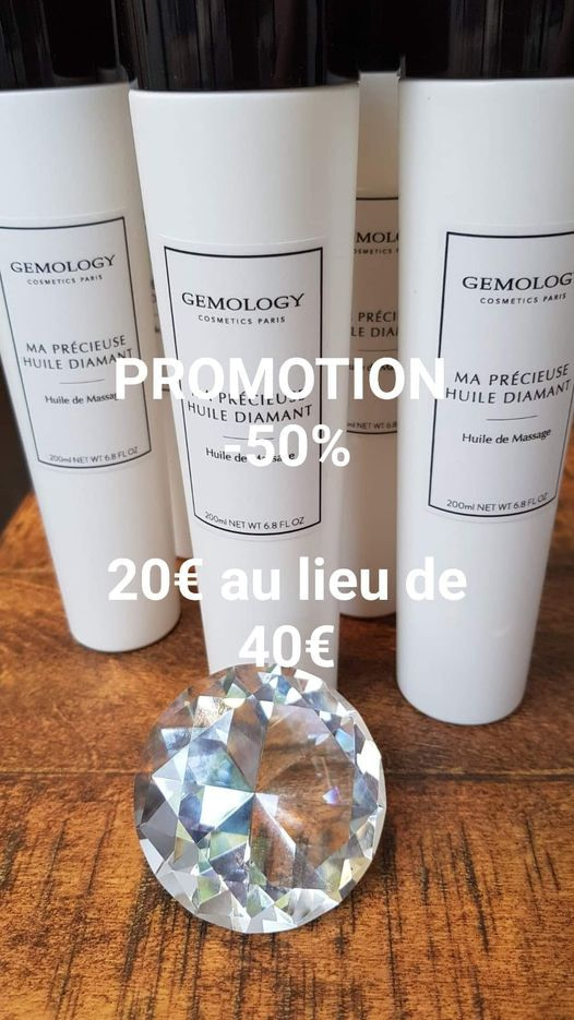 Huile de massage ma précieuse huile diamant gemology